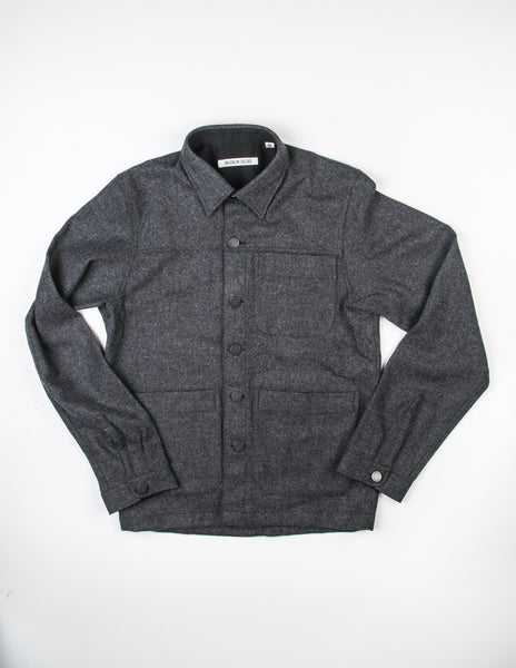 BROOKLYN TAILORS - BKT15 Shirt Jacket in Dark Grey Tweed