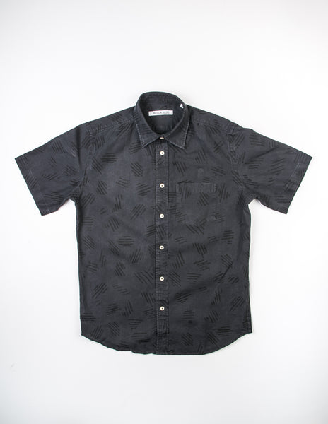 BROOKLYN TAILORS - BKT14 Abstract Printed Shirt in Black Top