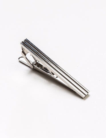 FAIRFAX - Horizontal Silver Tie Bar