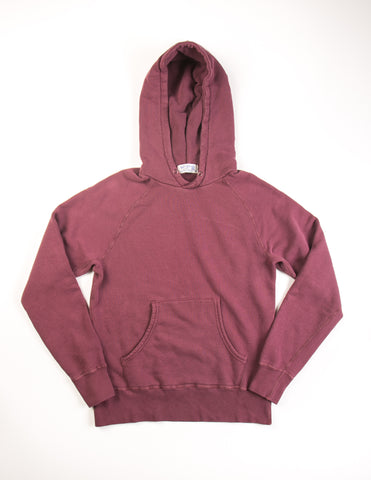 VELVA SHEEN - 8oz Pullover Hoodie in Burgundy