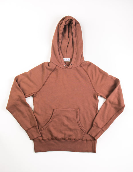 VELVA SHEEN - 8 oz Pullover Hoodie in Brick Red