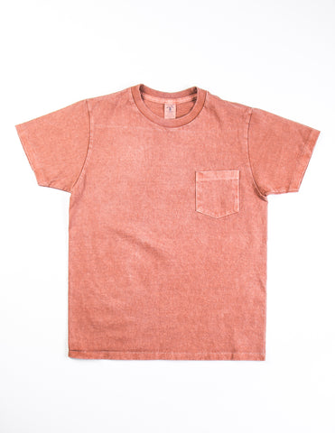 VELVA SHEEN - Garment-Dyed Tee in Rust