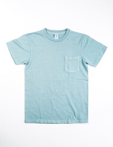 VELVA SHEEN - Garment-Dyed Tee in Teal