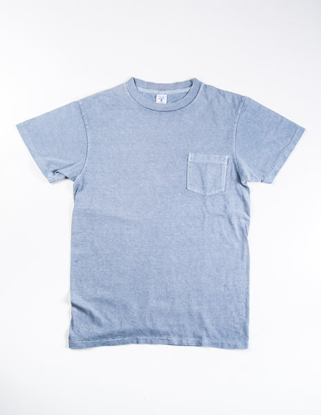VELVA SHEEN - Garment-Dyed Tee in Sky Blue