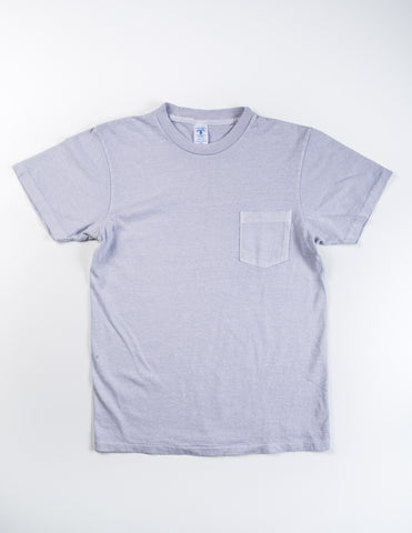 VELVA SHEEN - Garment-Dyed Tee in Light Gray