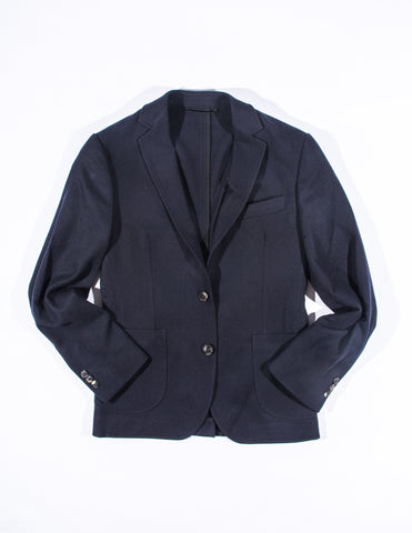 FINAL SALE - BROOKLYN TAILORS - BKT35 Unstructured Jacket in Navy Cashmere
