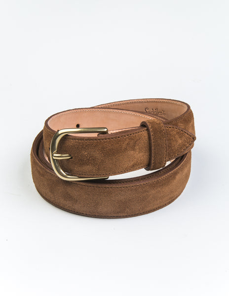 BROOKLYN TAILORS x SADDLER'S - Alaska Dress Belt in Warm Brown