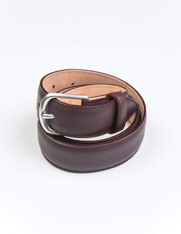 BROOKLYN TAILORS x SADDLER'S - Gange Dress Belt in Bordo