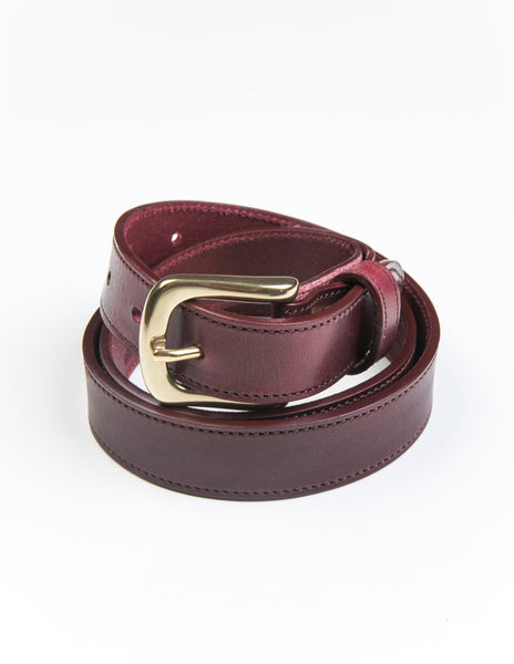 BROOKLYN TAILORS X SADDLER'S - Missouri Casual Belt in Burgundy