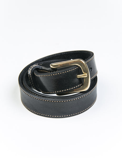 BROOKLYN TAILORS X SADDLER'S - Missouri Casual Belt in Black