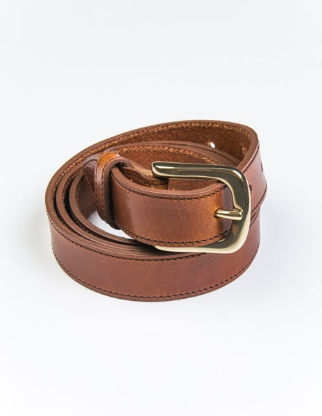 BROOKLYN TAILORS X SADDLER'S - Missouri Casual Belt in Amber Brown