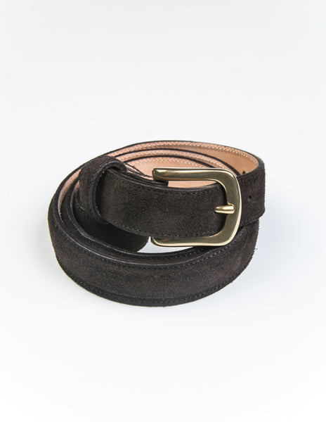 BROOKLYN TAILORS X SADDLER'S - Alaska Narrow Semi-Dress Belt in Deep Brown