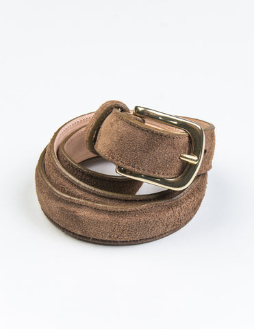 BROOKLYN TAILORS X SADDLER'S - Alaska Narrow Semi-Dress Belt in Clay