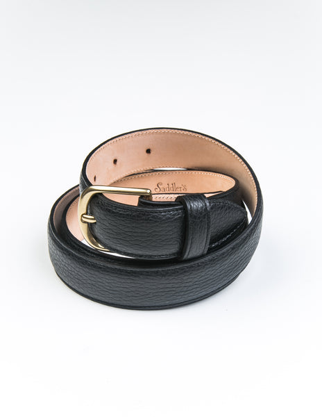 BROOKLYN TAILORS x SADDLER'S - Dollarino Dress Belt in Nero