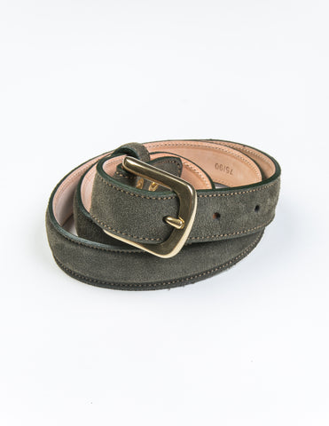 BROOKLYN TAILORS X SADDLER'S - Alaska Narrow Semi-Dress Belt in Sage
