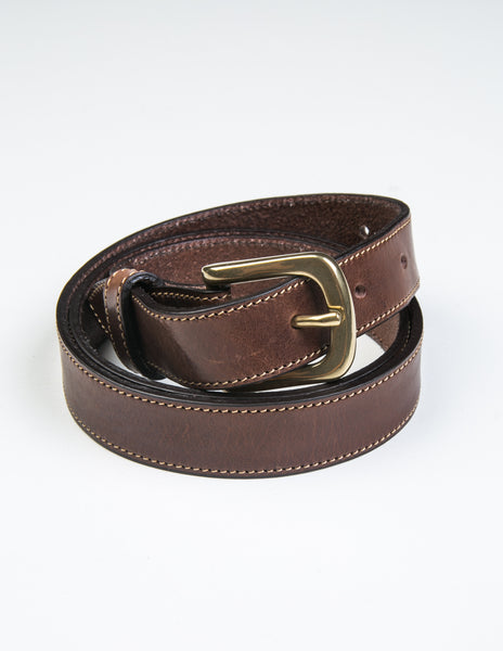 BROOKLYN TAILORS X SADDLER'S - Missouri Casual Belt in Dark Brown