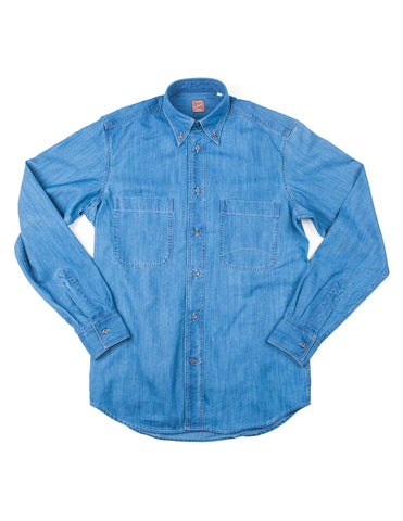 GLENN'S DENIM- GD310 Utility Shirt in Sky Indigo Denim