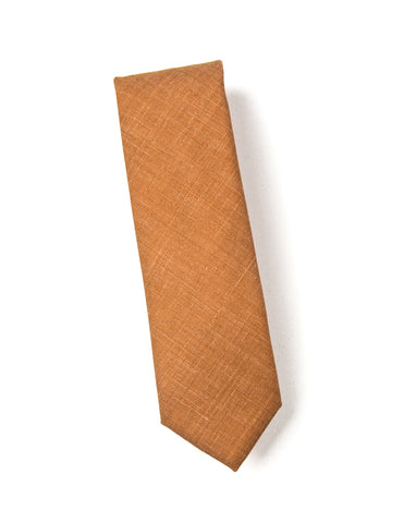 BROOKLYN TAILORS - Wool Silk/Linen Tropical Tie in Yellow Ochre