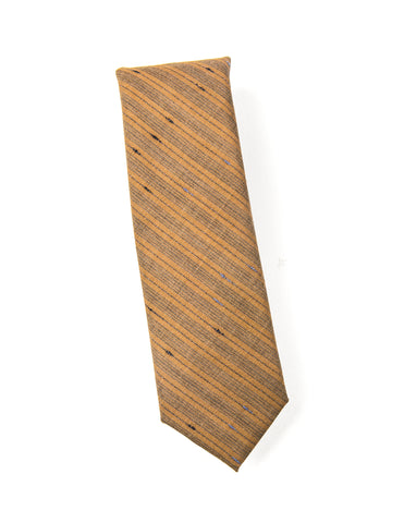 BROOKLYN TAILORS - Wool Tie in Copper with Stripes