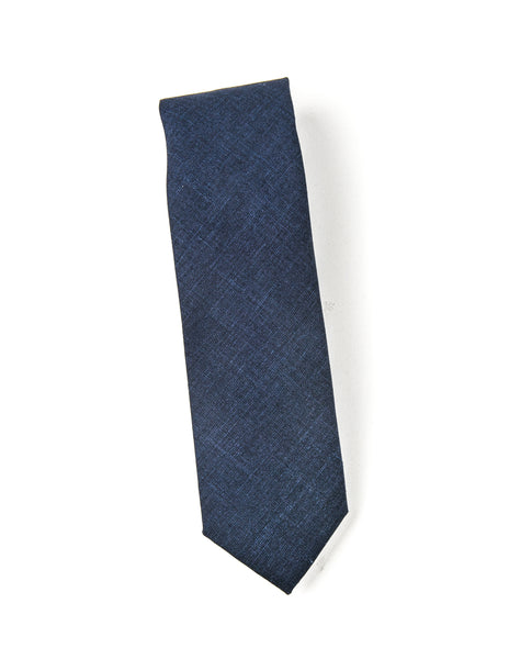 BROOKLYN TAILORS - Wool Silk/Linen Tropical Tie in Prussian Blue