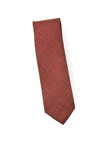 BROOKLYN TAILORS - Wool Silk/Linen Tropical Tie in Sienna Red