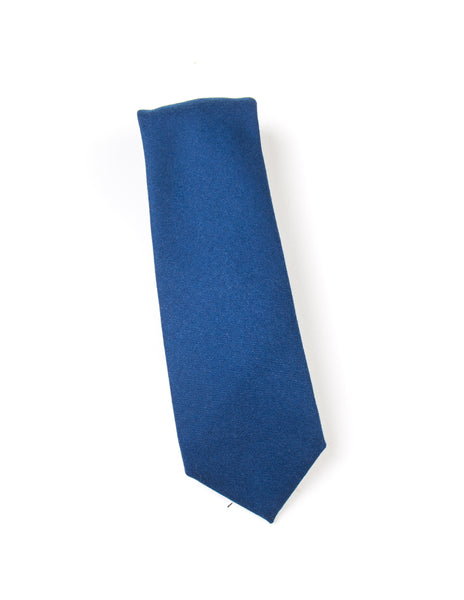 FINAL SALE: BROOKLYN TAILORS - Wool Flannel Necktie in Blue