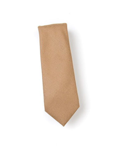BROOKLYN TAILORS - Wool Flannel Necktie in Camel