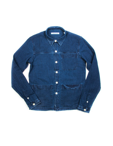 FINAL SALE: BROOKLYN TAILORS - BKT15 Dark Indigo Denim Shirt Jacket