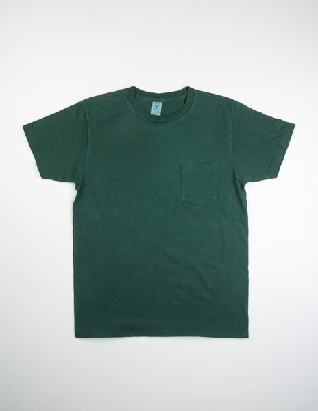 VELVA SHEEN - Pigment S/S Cotton Tee w/ Pocket in Green