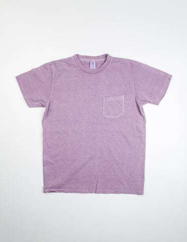 VELVA SHEEN - Pigment S/S Cotton Tee w/ Pocket in Purple