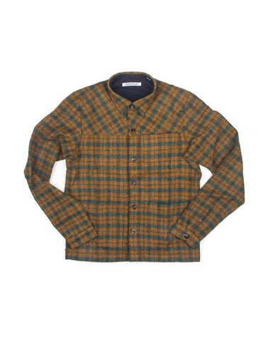 FINAL SALE - BROOKLYN TAILORS - BKT15 Shirt Jacket in Brown & Green Check