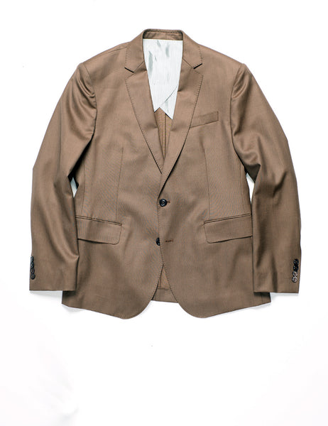 BROOKLYN TAILORS - BKT50 Tailored Jacket in Wool Twill - Oakwood