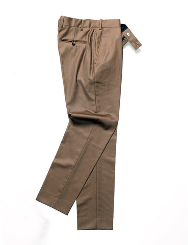 BROOKLYN TAILORS - BKT50 Tailored Trousers in Wool Twill - Oakwood