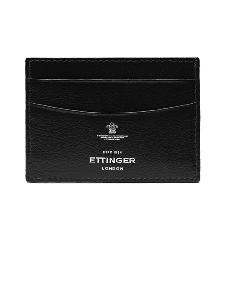 ETTINGER - Capra Flat Credit Card Case in Black