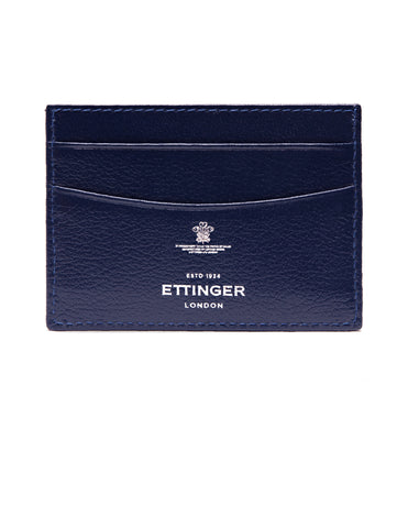 ETTINGER - Capra Flat Credit Card Case in Marine Blue