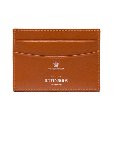 ETTINGER - Capra Flat Credit Card Case in Tan