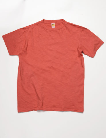 FINAL SALE: VELVA SHEEN - Crewneck T-Shirt in Cadmium