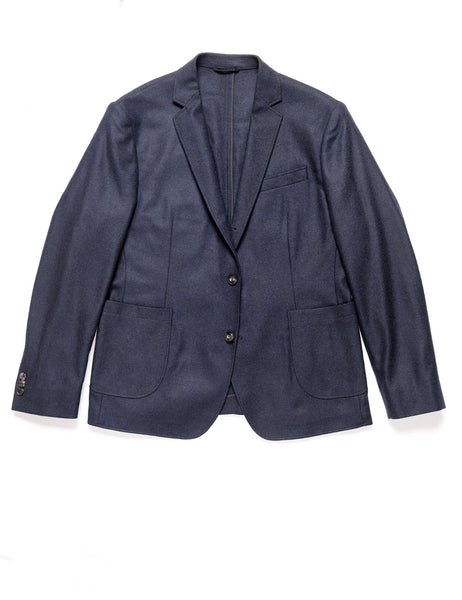 BROOKLYN TAILORS - BKT35 Unstructured Jacket in Twill Cashmere - Navy