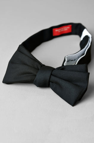BROOKLYN TAILORS - Formal Bowtie in Black Tropical Wool
