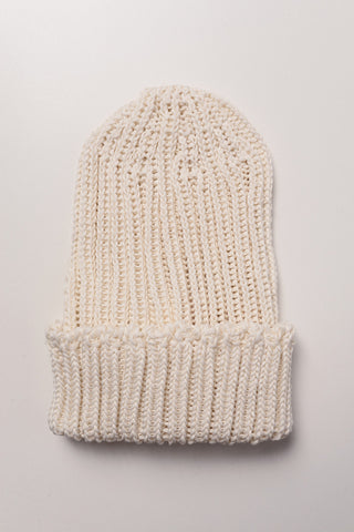 CABLEAMI - Crisp Organic Cotton Hat in Ivory