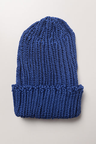 CABLEAMI - Crisp Organic Cotton Hat in Nautical Blue
