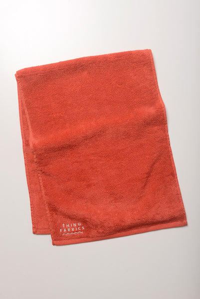 Thing Fabrics - Face Towel in Red