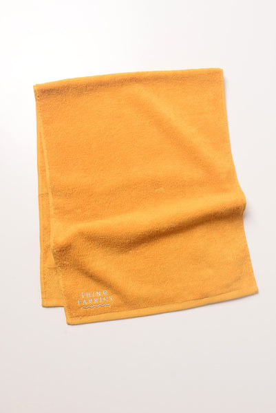 Thing Fabrics - Face Towel in Marigold