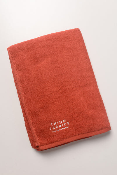 Thing Fabrics - Bath Towel in Red