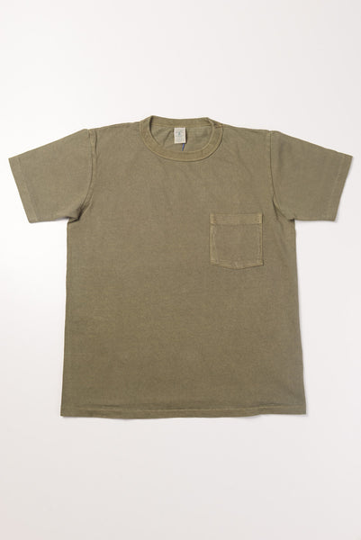 VELVA SHEEN - Pocket Tee in Army Green
