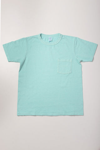 VELVA SHEEN - Pocket Tee in Seafoam