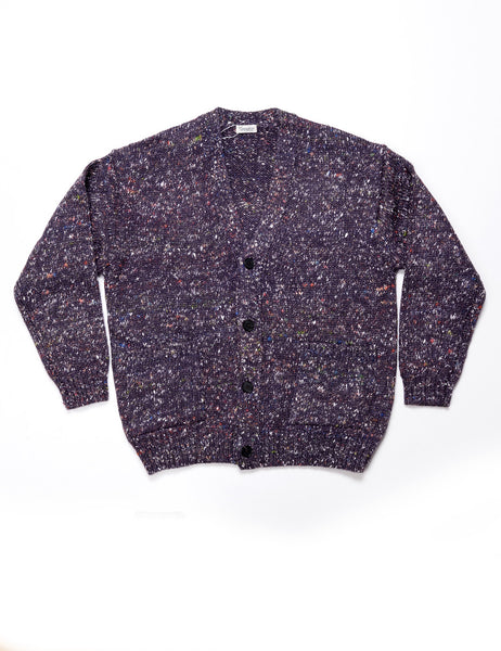 FINAL SALE: CAMOSHITA - Cardigan Knit in Cashmere Blend - Purple