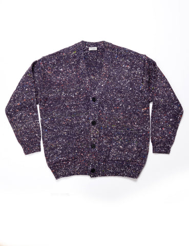 CAMOSHITA - Cardigan Knit in Cashmere Blend - Purple