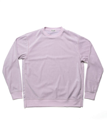 CAMOSHITA - Crew Neck Sweater in Velour - Light Purple