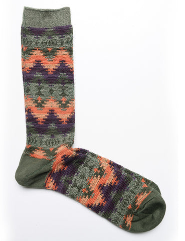 FINAL SALE: ANONYMOUS ISM - Crew Socks in Wigwam JQ - Forest Green